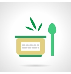 Vegetable puree flat simple icon vector