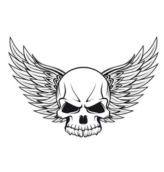 Human skull tattoo vector