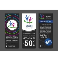 Set of vertical banners for your business with vector