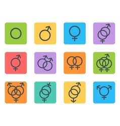 Sexual orientation icons vector