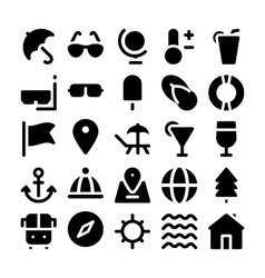 Summer icons 1 vector