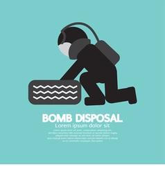 Black symbol bomb disposal vector