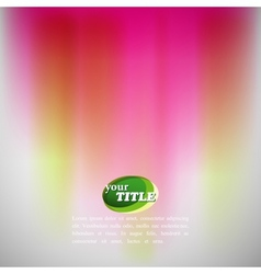 abstract colorful background with blurred vector image vector image