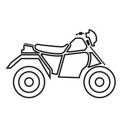 atv motorcycle on four wheels it is black icon vector image vector image