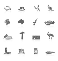 Australia icons set vector