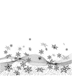 background with many snowflakes vector image vector image