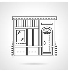 Bakery store facade flat line icon vector image vector image