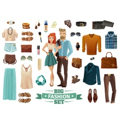 Big Fashion Set vector image