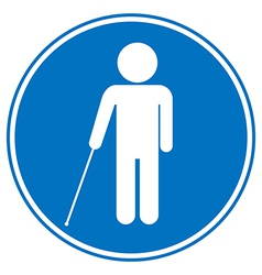 Blind disabled sign vector