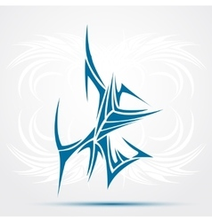 Blue Tribal tattoo vector image vector image