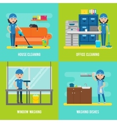 Cleaning Company Flat Composition vector image vector image