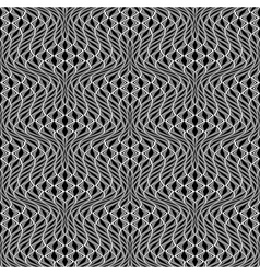Design seamless monochrome wave pattern vector image vector image