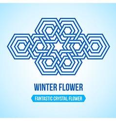 Fantastic flower icon vector