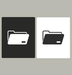 folder - icon vector image vector image
