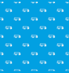 Garbage truck pattern seamless blue vector