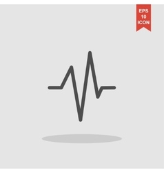 Heart beat cardiogram medical icon - vector