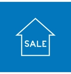 House for sale line icon vector image vector image