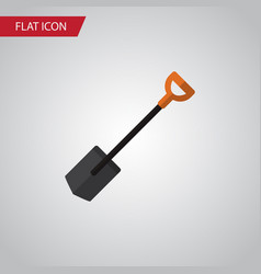 isolated shovel flat icon spade element vector image