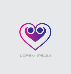 love sign logo vector image vector image