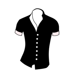 Men shirt short sleeve icon simple style vector image vector image
