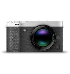 Mirrorless compact camera vector