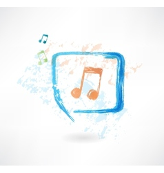 Music in the speech bubble vector image vector image