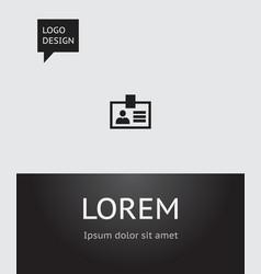 Of bureau symbol on badge icon vector