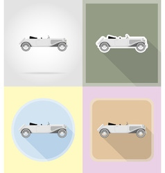 Old retro transport flat icons 05 vector