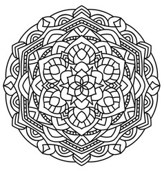 Outline mandala for coloring book vector