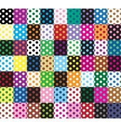 Polka dots 63 seamless patterns vector