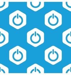 Power hexagon pattern vector