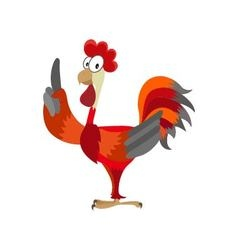 Rooster on white background vector