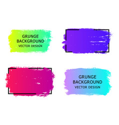 set of trendy gradient grunge paint background vector image vector image