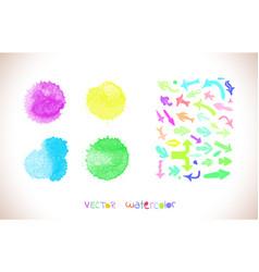 set of watercolor arrows vector image