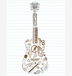 Shapely guitar vector