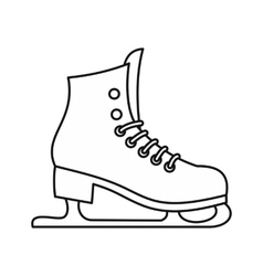 Skates icon in outline style vector image vector image