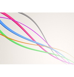 Speed waves streaming - channel or cable vector