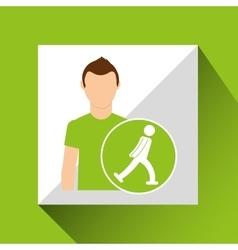 Sport man ice skater concept icon design vector