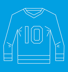 Sports shirt with the number 10 icon outline style vector