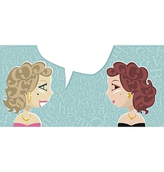 Talking Ladies vector image vector image
