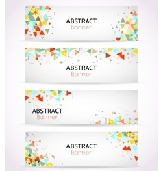 triangle polygonal banners or abstract vector image vector image