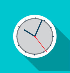 Wall clock icon in flat style vector