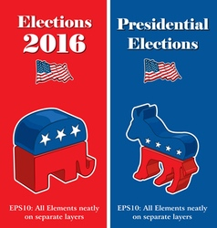American presidential election party banners vector