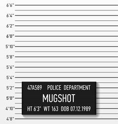 Police mugshot vector image