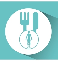 Silhouette person food icon design vector