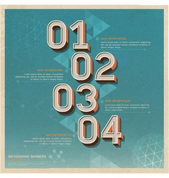 Retro color options number banner vector