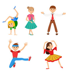 Children dancing vector
