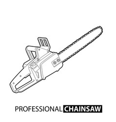 outline chainsaw vector image