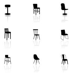 Furniture icons - chairs vector