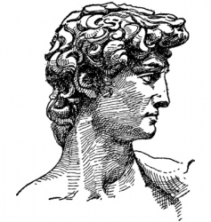 michelangelo david sketch vector image